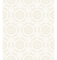 Elegant circular pattern in white vector image