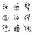 global communication icon set vector image