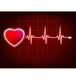 Heart and heartbeat symbol on monitor EPS 8 vector image