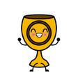 holy chalice isolated cute kawaii cartoon vector image