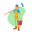 male house painter classic paintbrush vector image