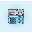 Projector flat icon vector image