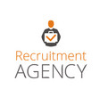 recruitment agency vector image