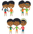 summer african-american people standing and vector image