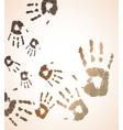 vector handprint color background vector image