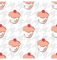 Tile cake pattern with houndstooth background vector image