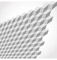 metallic cubes vector image vector image