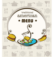 American menu vector image