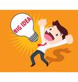 business man get big idea vector image