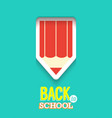 back to school creative card vector image