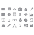 Banking and finance gray icons set vector image