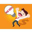 business man get big idea vector image