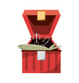 fisherman box isolated vector image