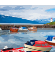 Harbour with boats vector image