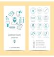 Set of flyer brochure for dental clinic Dental vector image