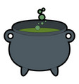 witch boiler isolated icon vector image