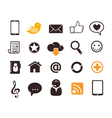 Internet communication icons vector image