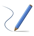 Blue pencil vector image vector image
