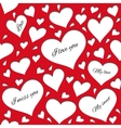 Red pattern for lovers vector image vector image