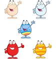 Funny Easter Eggs Collection vector image vector image