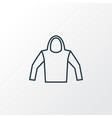 hoodie outline symbol premium quality isolated vector image