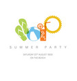 summer party concept vector image