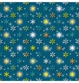 colored snowflakes background vector image