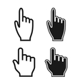 Woman and Man Hands Cursor Icons Mouse Pointer Set vector image
