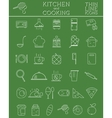 Kitchen and Cooking outline icons set Morning vector image