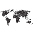 World Map Line vector image