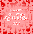 easter cet red text vector image