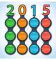 Calendar 2015 metaball background vector image