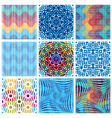 Colorful backgrounds collection vector image
