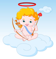 Cupid Sitting on the Cloud vector image