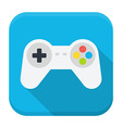 Game console flat app icon with long shadow vector image