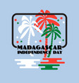 madagascar independence day greeting card vector image