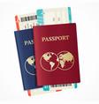 realistic international passport set vector image