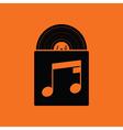 Vinyl record in envelope icon vector image