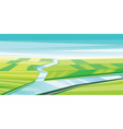 Digital abstract background with river vector image