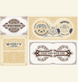 labels and cards set vector image vector image