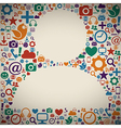 Social networking icons vector image vector image