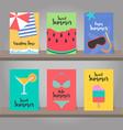 set of summer background for template design vector image
