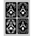 poker cards aces set vector image