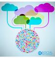 Template design Cloud idea vector image vector image