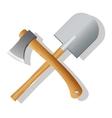Spade and ax vector image