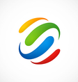 colorful loop business logo vector image