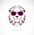 images of lion wearing sunglasses vector image