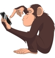 Monkey and smartphone vector image