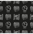 School doodle seamless pattern vector image