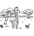 Giraffe Coloring Pages vector image